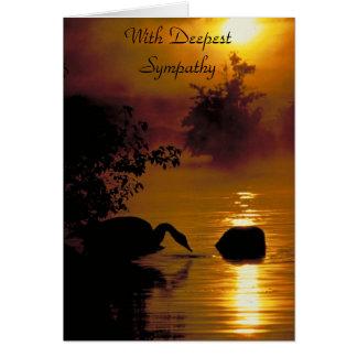 Lago swan, con la condolencia más profunda tarjeta de felicitación