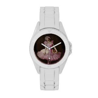 Lago swan del vintage reloj de mano