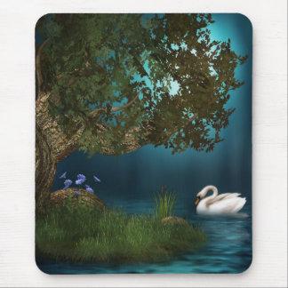 Lago swan alfombrilla de ratones
