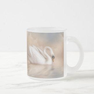 Lago swan taza de cristal