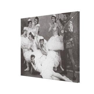 Lago swan, teatro de Mariinsky, 1895 (foto de b/w) Lona Envuelta Para Galerias