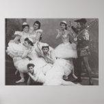 Lago swan, teatro de Mariinsky, 1895 (foto de b/w) Posters