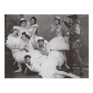 Lago swan, teatro de Mariinsky, 1895 (foto de b/w) Tarjeta Postal