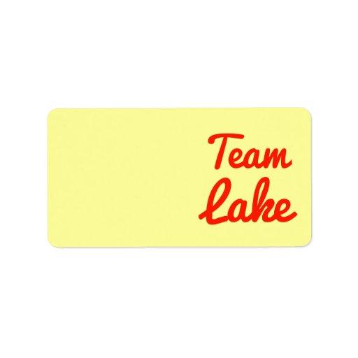 Lago team etiqueta de dirección