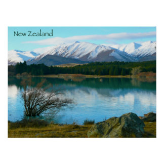 Lago Tekapo, Nueva Zelanda Poster
