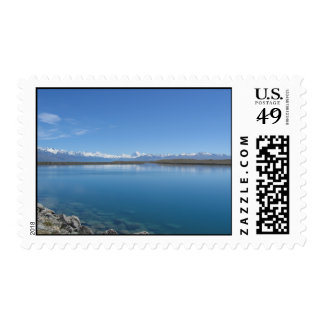 Lago Tekapo, Nueva Zelanda Sello Postal