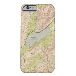 Lago Tenaya, mapa topográfico de Yosemite Funda De iPhone 6 Barely There