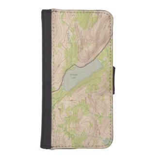 Lago Tenaya, mapa topográfico de Yosemite Funda Tipo Billetera Para iPhone 5