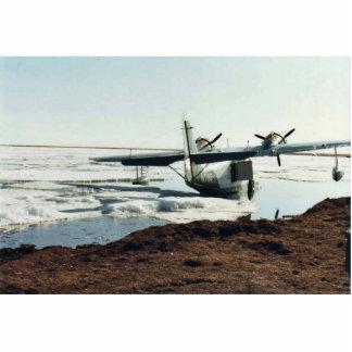 Lago Teshekpuk, avión de mar, y campo Fotoescultura Vertical