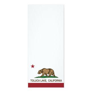 """Lago Toluca de la bandera de la república de Invitación 4"""" X 9.25"""""""