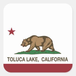 Lago Toluca de la bandera de la república de Pegatina Cuadrada