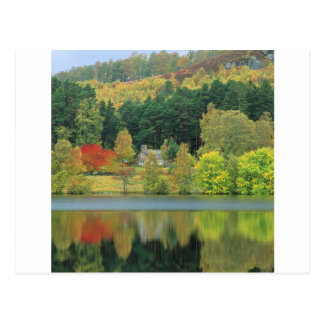 Lago tranquilo de las aguas del otoño de Eileen Tarjeta Postal