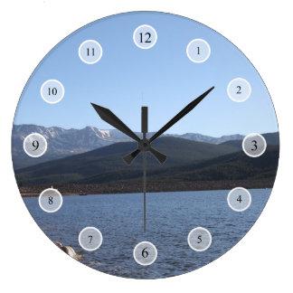 Lago turquoise, Colorado Reloj Redondo Grande