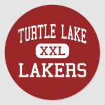 Lago turtle - Lakers - alto - lago turtle Pegatina Redonda