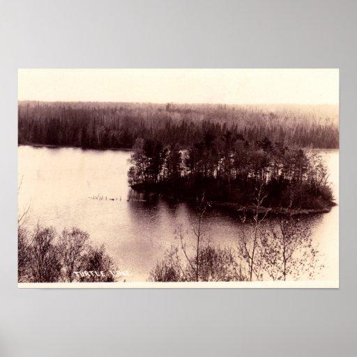 Lago turtle, Minnesota Póster