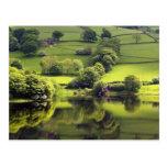 Lago verde tarjeta postal