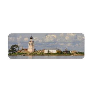 Lago Vologda Rusia Kubensky del monasterio de Etiquetas De Remite
