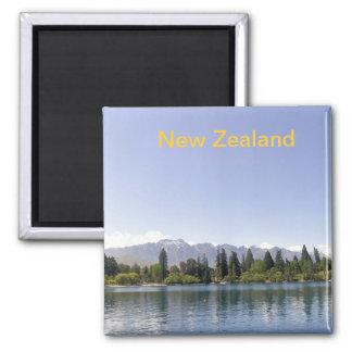 Lago Wakatipu Queenstown Nueva Zelanda Imán Cuadrado