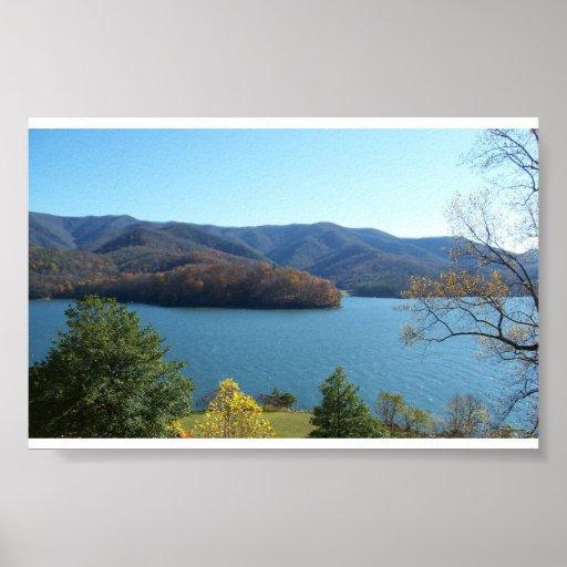 Lago Watagua, Tennessee del este Poster