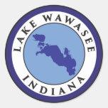 Lago Wawasee, Indiana Pegatina Redonda