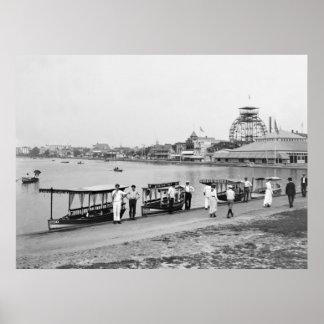 Lago Wesley, parque de Asbury: 1901 Posters