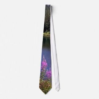 Lago Wildflower Corbata Personalizada