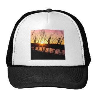Lago Wilson Kansas sunset Gorras De Camionero