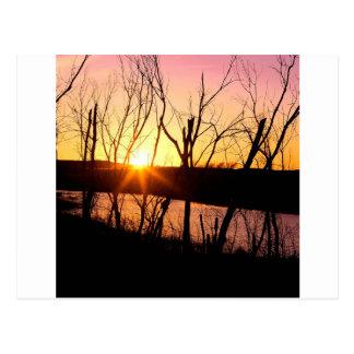 Lago Wilson Kansas sunset Postal