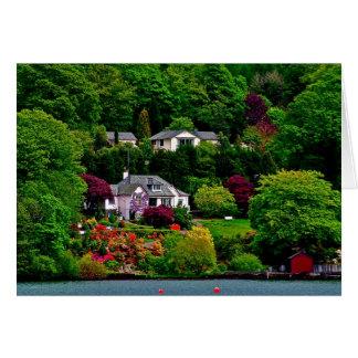 Lago Windermere Inglaterra Tarjeta De Felicitación