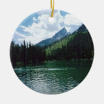 Lago Wyoming string Adorno Navideño Redondo De Cerámica