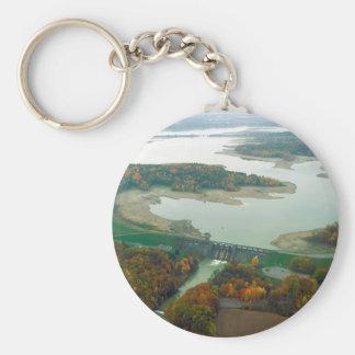 Lago y presa 2 berlin llavero redondo tipo pin