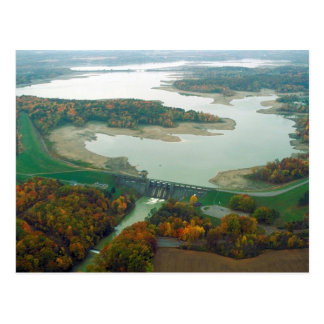 Lago y presa 2 berlin tarjeta postal