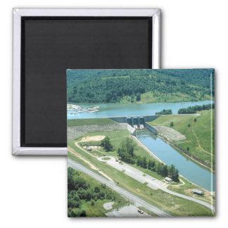 Lago y presa Burnsville Imán Cuadrado