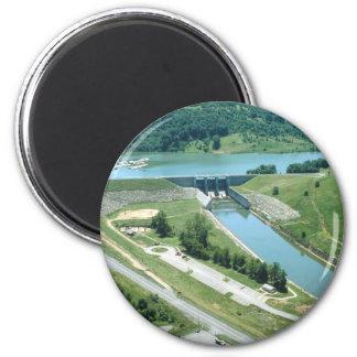 Lago y presa Burnsville Imán Redondo 5 Cm
