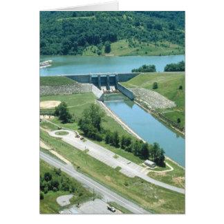 Lago y presa Burnsville Tarjeta De Felicitación