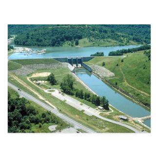 Lago y presa Burnsville Tarjetas Postales