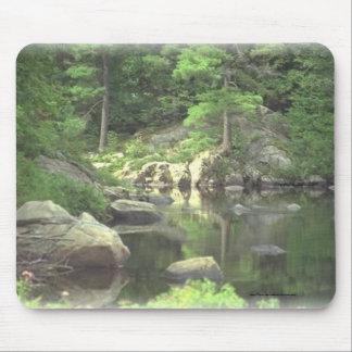 Lago y rocas de la montaña de Pad~~ Nueva York del Tapetes De Ratones