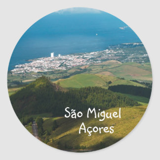 Lagoa and Ponta Delgada Classic Round Sticker