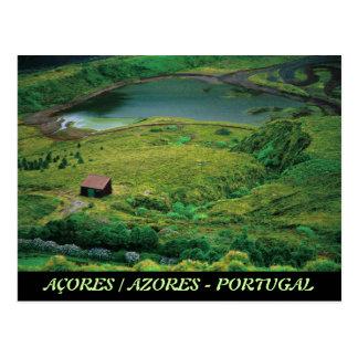 Lagoa do Carvao - Azores Postcard