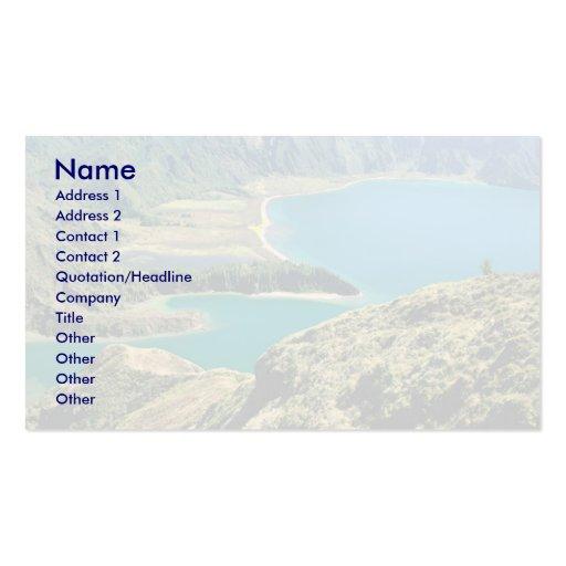 Lagoa do Fogo - Azores Business Card