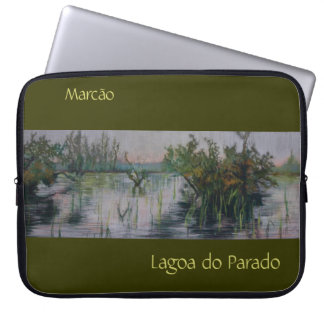 Lagoa do Parado Bordered Customizable Laptop Case