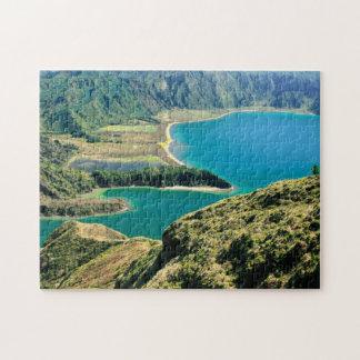 Lagoa hace Fogo, Azores Puzzle Con Fotos