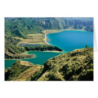 Lagoa hace Fogo - Azores Tarjeta De Felicitación