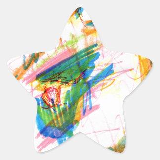 Lagomorfo del Hysterics Pegatina En Forma De Estrella
