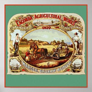 Lagonda Agricultural Works Poster