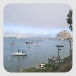 Lagoon and Morro Rock Square Sticker