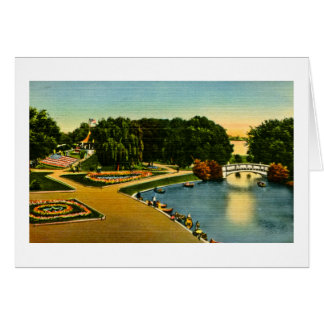 Lagoon and Mound Belle Isle, Detroit, Michigan Card