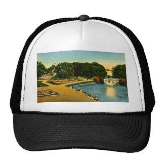 Lagoon and Mound Belle Isle, Detroit, Michigan Trucker Hats