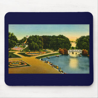 Lagoon and Mound Belle Isle, Detroit, Michigan Mouse Pad