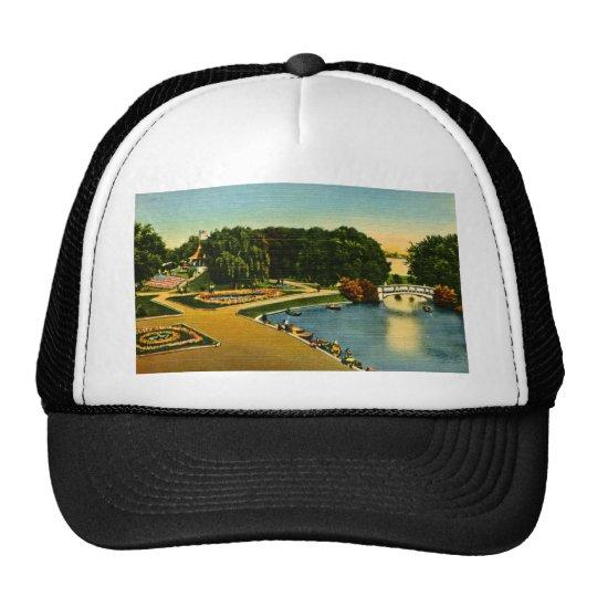 Lagoon and Mound Belle Isle, Detroit, Michigan Trucker Hat